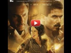 Rangoon Official Trailer Shahid Kapoor Saif Ali Khan Kangana Ranaut