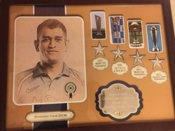 Rajkot Jeweller Makes Special Memento For Ms Dhoni