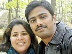 Get Of My Country I Need An Answer Srinivas Kuchibhotla Wife Holds Press