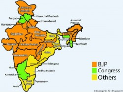 Infographic States Ruled By Bjp In India After The Big Up Win