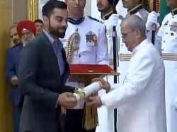 Virat Kohli Receives Padma Shri Award