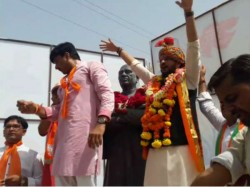 Young Bjp Leader Rutvij Patel S Road Show At Viramgam