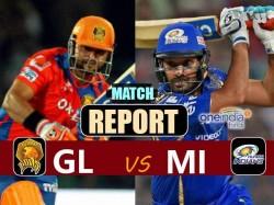 Ipl 2017 Mumbai Indians Vs Gujarat Lions Live Match Score