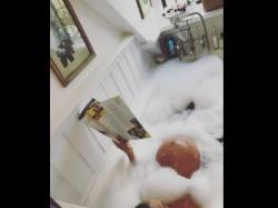 Lisa Haydon Flaunting Baby Bump In Bathtub See Pic