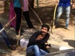 Viral Video Father Law Beats Son Law Gandhinagar