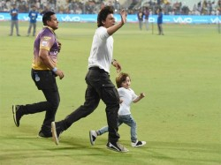 Shah Rukh Khan Racing With Son Abram Eden Garden See Pics