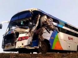 Accident Between Two Bus Near Vadodara National Highway