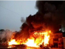 Vapi Fire Broke In Transport Godown On Thursday