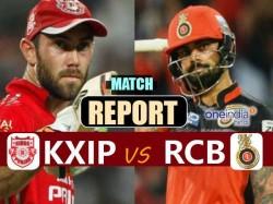 Ipl 2017 Kings Xi Punjab Vs Royal Challengers Bangalore Live Match Report