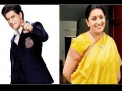 Shah Rukh Khan Shares Reveals Secret About Smriti Irani S Da