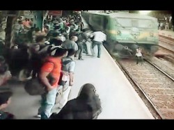 Video Girl Crossing Tracks Gets Run Over By Train What Happen Next Will Shocked You