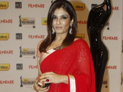 Will I Be Called Sanghi Wearing Saree Raveena Asks Twitter