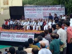 Businessmen Protest Against Gst Bill