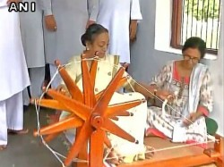 Opposition Presidential Candidate Meira Kumar At Sabarmati A