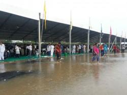 Heavy Rainfall Rajkot Water Field Modi S Programmes Venue