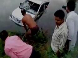 Dead As Car Falls Into Canal Near Mathura