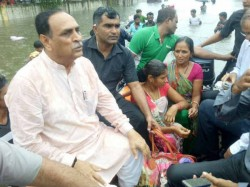 Cm Vijay Rupani Visited Water Logged Area Ahmedabad