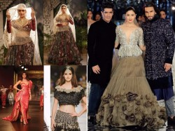 Bollywood Actress Traditional Avtar India Couture Week