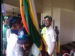 Video Percy Uncle Kisses Cricketer Ajinkya Rahane