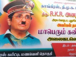 Kiran Bedi Portrayed As Adolf Hitler Congress