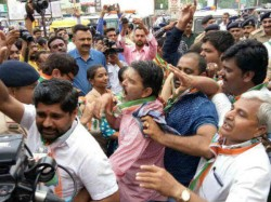 Gujarat Congress Protest After Rahul Gandhi Car Attack Incident