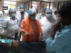 Gorakhpur Cm Yogi Adityanath Jp Nadda Reach Hospital Take