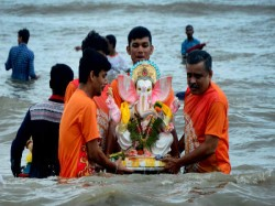 See Some Pictures Ganpati Bappa S Departure The Country Here