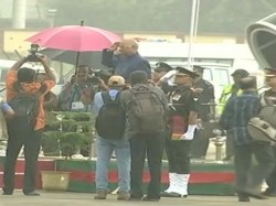 President Ramnath Kovind Refuses Umbrella Takes Guard Of Honour In Rain