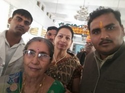 Modi Wife Jashodaben Arrives In Allahabad Pics