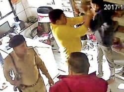 Bjp Candidate Catch On Cctv During Attack On Shop Owner