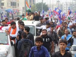 Hardik Patel Without Permission Road Show Ahmedabad