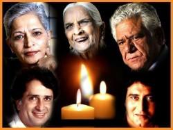 Year 2017 Om Puri Shashi Kapoor Gauri Lankesh Famous Pers