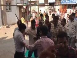 Bjp It Cell Convenor Pulls The Sword After Women Protesting