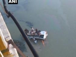 Rajasthan Bus Fell Into Banas River Near Sawai Madhopurs