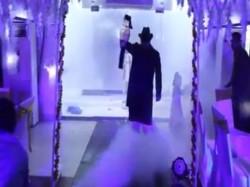 Video Groom S Wrestler The Undertaker S Like Entry Pakistan Has Gone Viral On The Internet