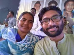Jignesh Mevani Calls Rohith Vemula Mother Teach Lesson To Manu Smriti Irani By Contesting 2019 Polls