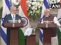 Pm Modi Benjamin Netnyahu Address Israel India Sign 9 Pacts In Areas Of Oil Gas Cybersecurity
