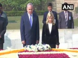 Pm Narendra Modi Pm Benjamin Netanyahu At Ceremonial Reception Rashtrapati Bhawan Delhi