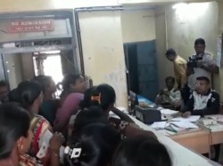 Tapi Widow Women Protest Government Office Pensions Issue
