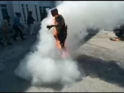 Dalit Activist Attempts Self Immolation Gujarat
