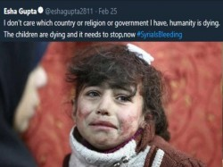Esha Gupta Tweets On Syria Crisis Says Humanity Is Dying Children Are Dying