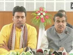 Biplab Kumar Deb Chief Minister Triura Nitin Gadkari