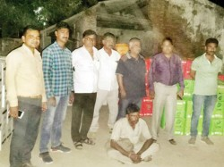 A Men Arrested With 57 Lakh Rupees Daaru Kutch