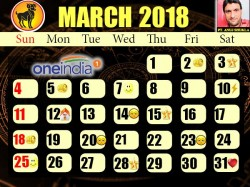 Monthly Prediction Of March 2018 In Astro Calender