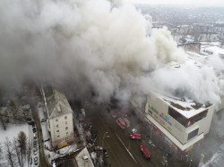 Russia Many People Dead Several Injured Fire At Siberian Shopping Center