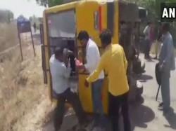 Gujarat 20 Students Injured After Their School Bus Overturn