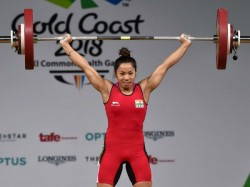 Cwg 2018 Mirabai Chanu Wins Gold Medal Weighlifting 48kgs