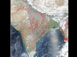 Nasa Images Parts India Dotted With Fires