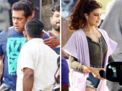 Salman Khan Jacqueline Fernandez Daisy Shah Shoot Race 3 In Mumbai