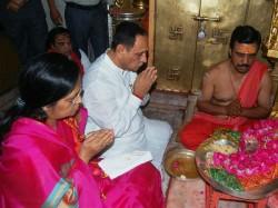 Chief Minister Vijay Rupani Reach Ambaji Temple